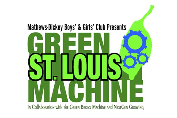 Green St. Louis Machine Logo