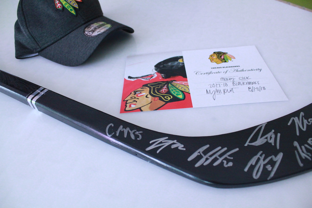 Blackhawks Signed Hockey Stick
