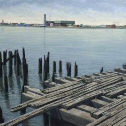 Bronx Pier (Giclée Print) by Artist Valeri Larko