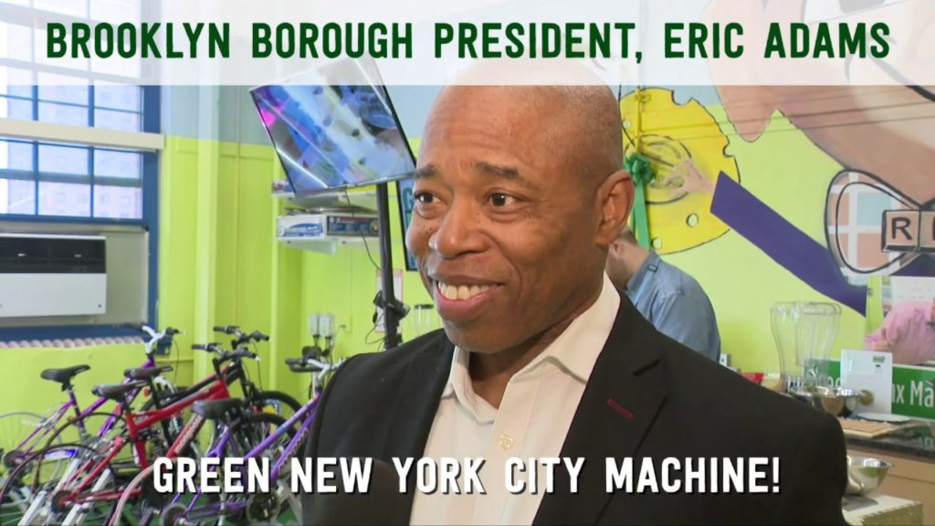 Brooklyn Borough President, Eric Adams, Visits Green Bronx Machine