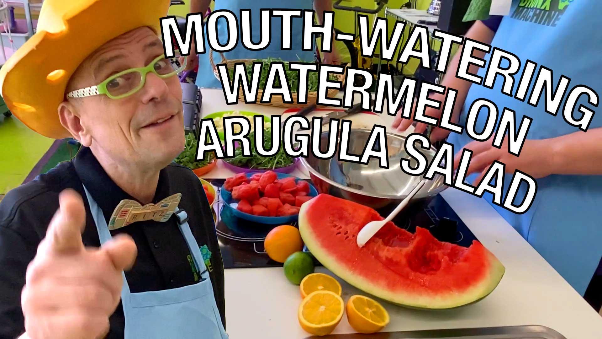 Mr.Ritz Makes Mouth Watering Watermelon-Arugula Salad-v3-COVER IMAGE